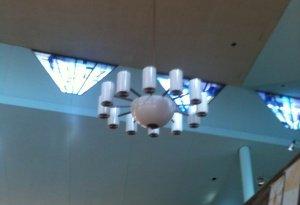 12-arm chandelier installed unlit 01-08-14