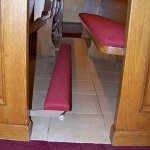 ligh weight church pew kneeler