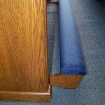 cushioned church pew kneeler