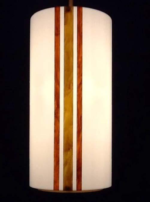 Cylinder Mica Pendant
