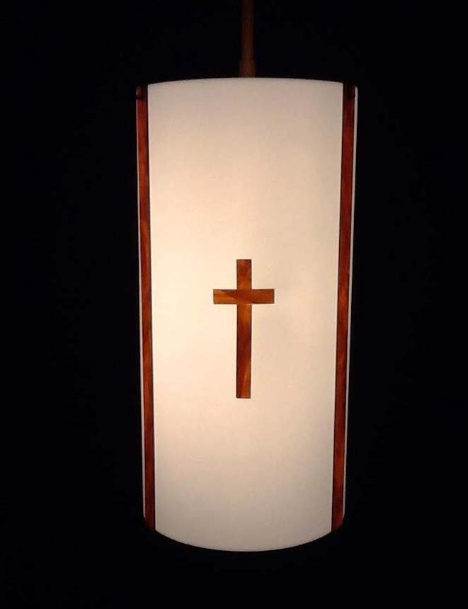 Cylinder Pendant with Cross