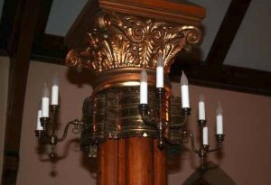 after - 4-arm candle column lights