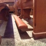church pew kneeler