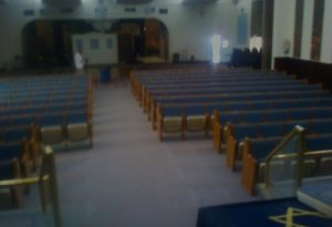 after pews cut down 07-25-12, israel center