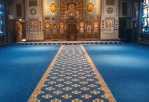 aisle carpet, church of the annunciation, elkins park pa