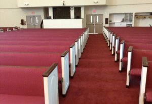 aisle with pews
