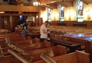 during kneeler installation photo