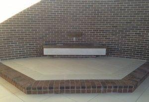 new tile sanctuary floor-photo