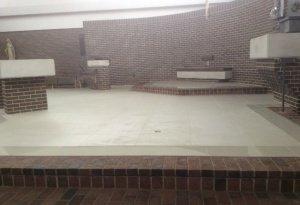 new tile sanctuary floor-photo2