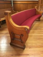 Upholstered Church Pew Refurbishing
