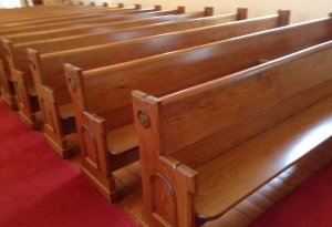 pews after refurbishment 07-2013, zion lutheran oldwick