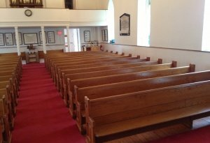 pews after refurbishment-2 07-2013, zion lutheran oldwick