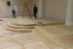 platform before carpet, beulah cog sd