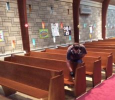Onsite Church Pew Refinishing