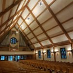 Artech Church Interiors Installed LED Chandeliers at Nativity of Our Lord, Orchard Park, NY